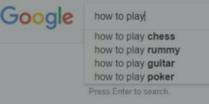 Google Auto Suggestion for how to play